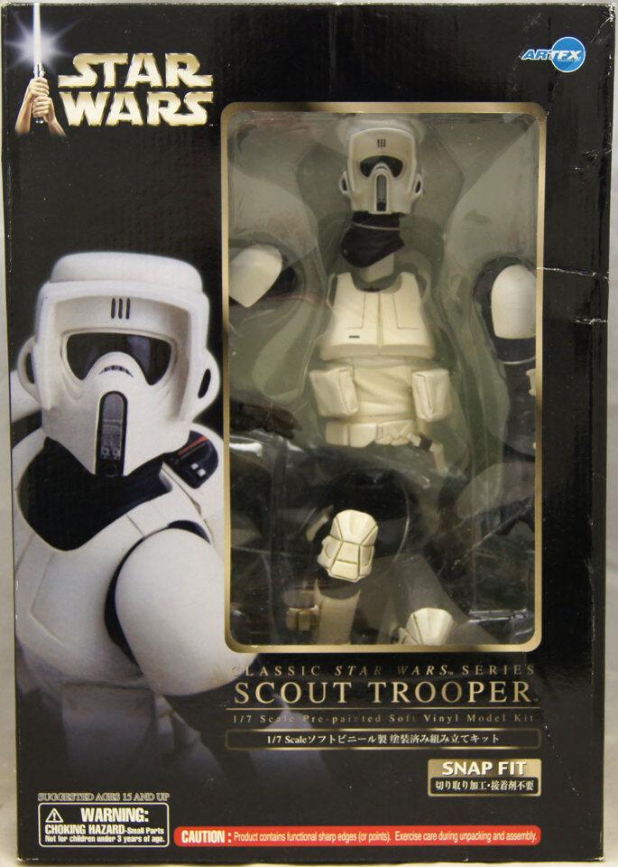 marca de lujo Estrella Wars Scout Trooper 1 7 escala kit modelo de de de vinilo suave ArtFX 2005 Nuevo en Caja Kotobukiya  precio al por mayor