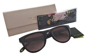 1593-Ted-Baker-Dirk-Black-Sunglasses-with-Brown-Gradient-Lens-amp-Original-case