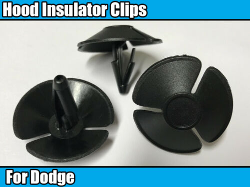 10x aislamiento de capucha Retenedor De Plástico Negro Trim Clips Para Chrysler Dodge Ram