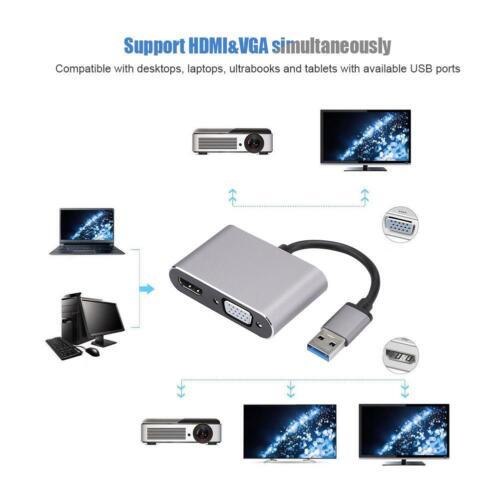 USB 3.0 to HDMI VGA Adapter For Macbook USB to VGA HDMI Adaptor 1080P Converter