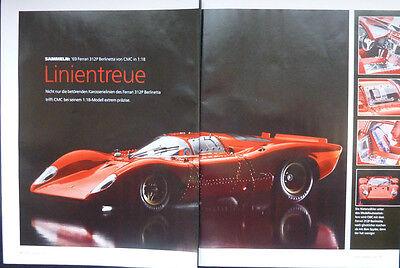 ' 69 Ferrari 312p Berlinetta In 1-18 Di Cmc... Un Modello Relazione #2014-mostra Il Titolo Originale Impermeabile, Resistente Agli Urti E Antimagnetico