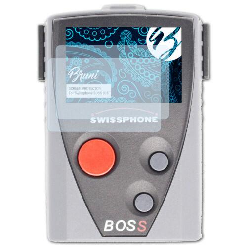 Bruni 2x Folie für Swissphone BOSS 935 Schutzfolie Displayschutzfolie