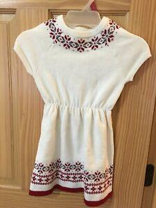 9f08a1b4e8029 NWT Gymboree White Fear Isle Sweater Dress Girls Outlet Many Sizes ...