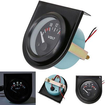 New 2'' 52mm Mechanical Car Auto Volt Voltmeter Voltage Meter Gauge LED 8-16V