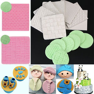 Knit-Texture-Silicone-Fondant-Mould-Cake-Decorating-Embossed-Baking-Mold-Tools