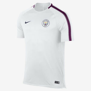 4c6ce6d6aa2d Nike 17 18 Manchester City FC Breathe Squad Tee new white burgundy ...