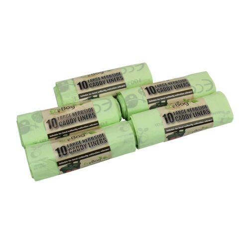 5 rouleaux 50 x 30 L ecobags Sacs compostables bordure du trottoir déchets alimentaires collection bacs