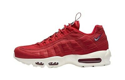 Nike Air Max 95 Rouge Tirette Pack UK 9.5 EUR 44.5 Gym Red White new AJ1844 600 | eBay