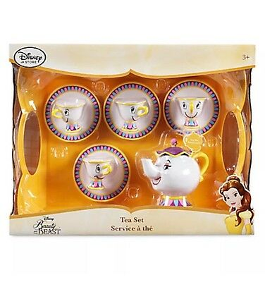 Disney Mrs Potts Beauty & The Beast Talking Tea Set Playset Play Set Chip Cup