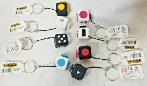 Small Fidget Cube Key Chain Toy Anxiety Relief Focus Key Chain Free S/&H from USA
