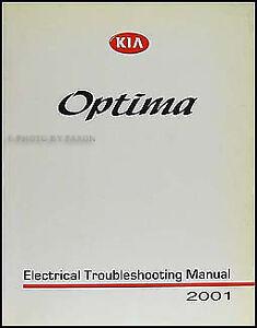 Image Is Loading 2001 Kia Optima Electrical Troubleshooting Manual 01
