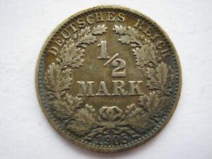 Germany-1905-G-silver-1-2-Mark-VF