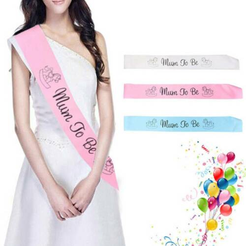 Mummy//Mom To Be Satin Sash Banner Ribbon Newborn Baby Shower Baptism Party Favor