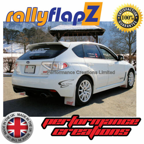 Custom ANTERIORE SUBARU IMPREZA Berlina RallyflapZ 4 mm pvc Bianco 2010-2014