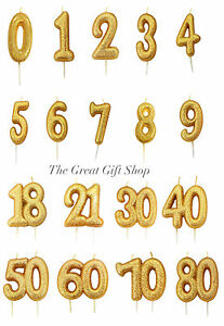 Image Is Loading Gold Glittery Birthday Anniversary Cake Age Number Digit