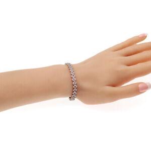 4-44-CT-Natural-Pink-Sapphire-amp-0-85-CT-Diamonds-14K-White-Gold-Bracelet-7-034