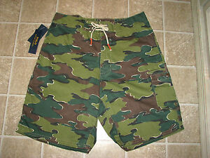 Men-039-s-85-POLO-RALPH-LAUREN-034-Camo-034-Swim-Board-Shorts-32