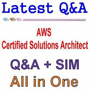 Details about AWS Certified Solutions Architect - Associate Exam Q&A PDF+SIM