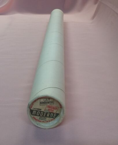 FULL TUBE OF VINTAGE DAIRY MILK BOTTLE CAPS CREAM MODERNE STANSTEAD QUEBEC