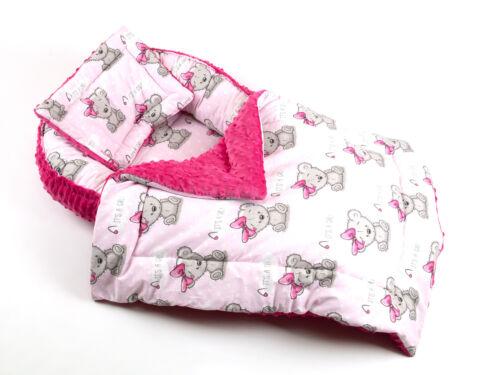 SET Babynest Kissen Bettdecke Schlafnest für Babys Babynestchen kokon Minky.