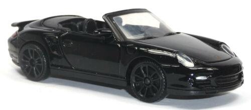 1:43//10-11 cm negro Motormax mercancía nueva Porsche 911 cabriolet modelo de coleccionista aprox