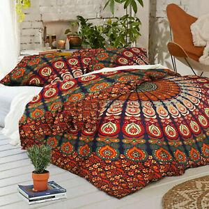 Indian-Mandala-Duvet-Cover-Boho-Queen-Quilt-Comforter-Cover-Bohemian-Bedding-Set