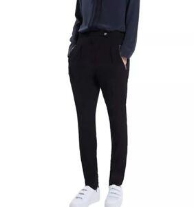 SANDRO-pantalon-poker-noir