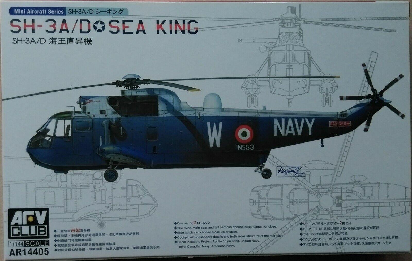 2 Kits AFV 1//144 SH3A//D Sea King Helicopter AFV14405