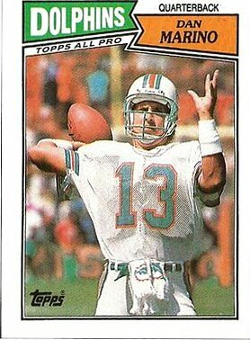 1987 Topps Dan Marino Miami Dolphins 233 Football Card For Sale Online Ebay