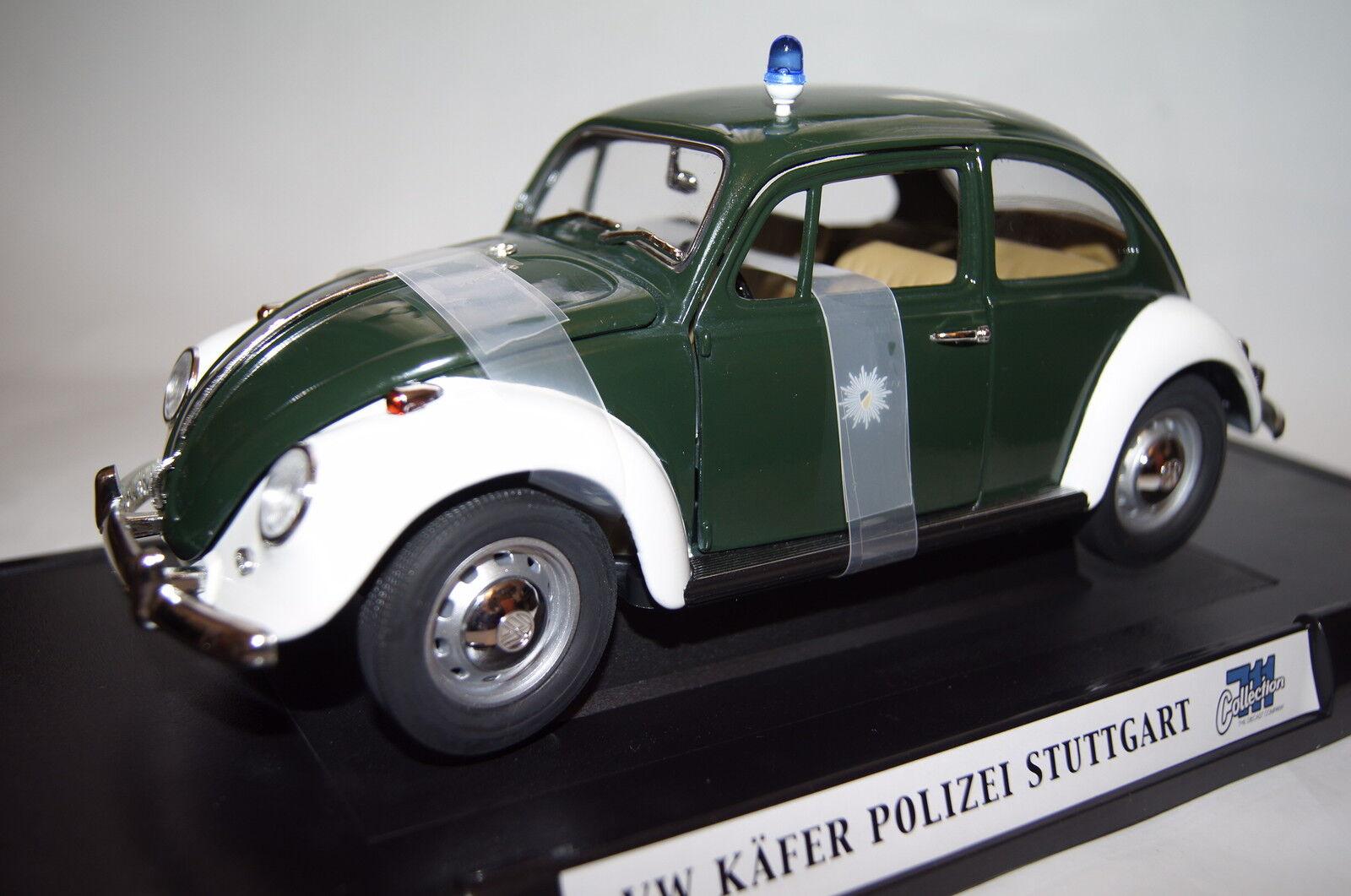 VW Maggiolino polizia Stuttgart 1:18 Collection 711 NUOVO & OVP 71101pc