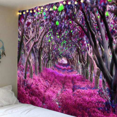 Nature Tree Forest Tapestry Room Bedspread Wall Hanging Psychedlic Tapestry Deco