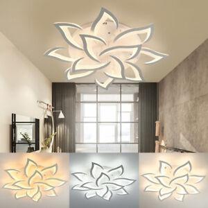 Acrylic-Modern-LED-Ceiling-Light-Chandelier-Lamp-Living-Room-Fixture-110V-60W