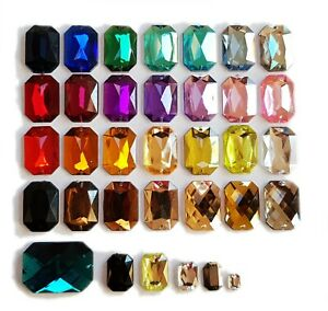 18x12mm Oval CLEAR AB Coated Iridescent Foil Flat Back Sew On Acrylic Gems Bead