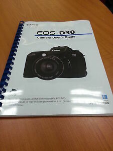 canon eos d30 full user guide instruction manual printed 152 pages rh ebay co uk Battery Canon EOS D30 Canon EOS 7D