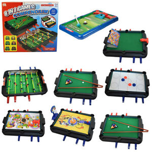 Image Is Loading KIDS 8 IN 1 MULTI GAMES TABLE POOL