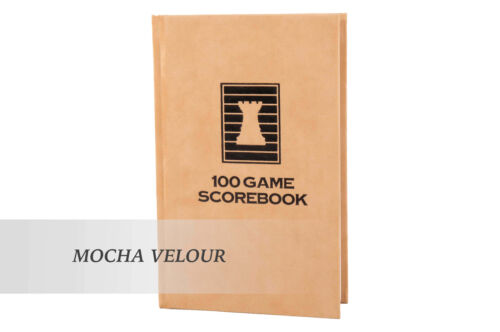 MOCHA VELOUR Luxury Hardcover Chess Scorebook