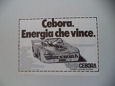 advertising Pubblicità 1981 CEBORA e MAURO NESTI e LOLA 2000