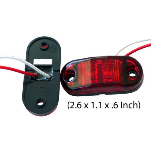 4x Red LED Side Marker Light Car Trailer Truck Clearance Lamp E11-marked 12V