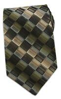 Bugatti Murano Collection Olive Geometric Tie
