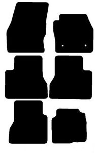 Ford Grand Tourneo Connect Date New Black Penny Rubber Car - Rubber connecting floor mats