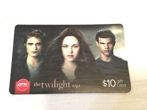 The Twilight Saga Amc Theaters 10 Gift Card Entertainment Celebrity Souvenir Ebay