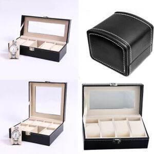 1,4,5,8 Grids Leather Watch Case Display Storage Gift Jewelry Organizer Box New