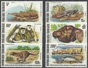 Timbres-Animaux-Togo-898-9-PA319-22-lot-14423