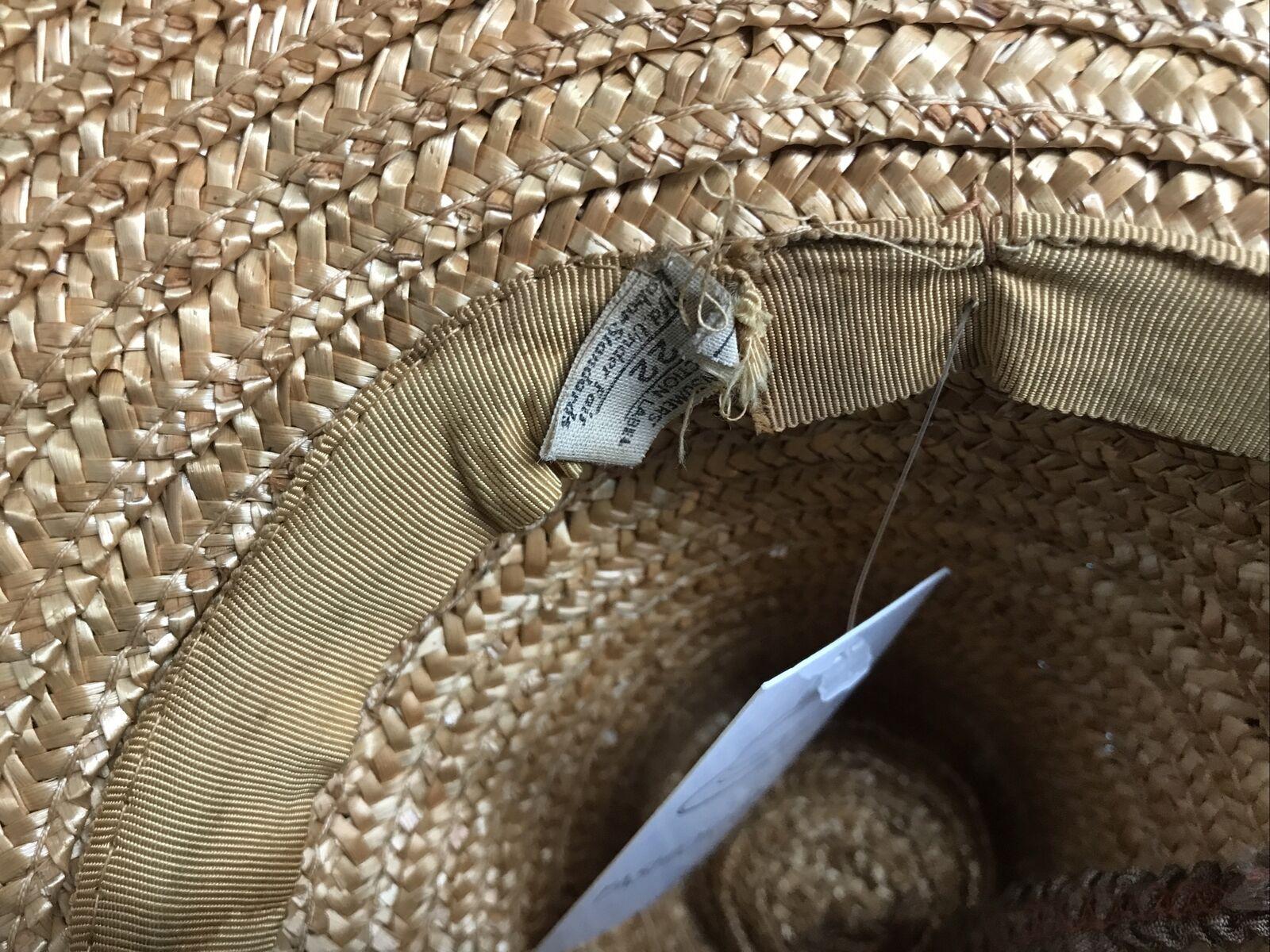 vintage straw hat 1930s 1940s 40s Tilt Wide Brim … - image 6