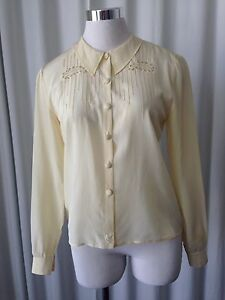 Vintage 50/'s Embroidered Blouse