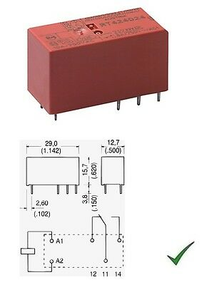 Relè relay 12V 12Vcc 5A circuito stampato pcb 1 contatto c//o in scambio PE014012