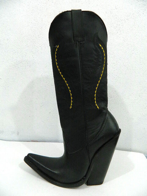 Uomo 7 inch heel cowboy boots boots boots made of genuine leather to your size MADE TO ORDER. 756c42