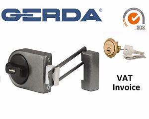 Image is loading Gerda-High-Quality-Surface-Mounted-Door-Lock-4-  sc 1 st  eBay & Gerda High Quality Surface Mounted Door Lock 4 Keys ZN200 Restrictor ...