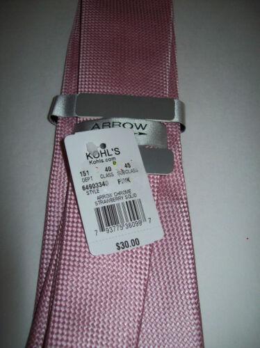 "Arrow Mens 100/% SILK Pastel PINK Wedding Neck Tie 3.5/"" 61/"" Long NWT $30"