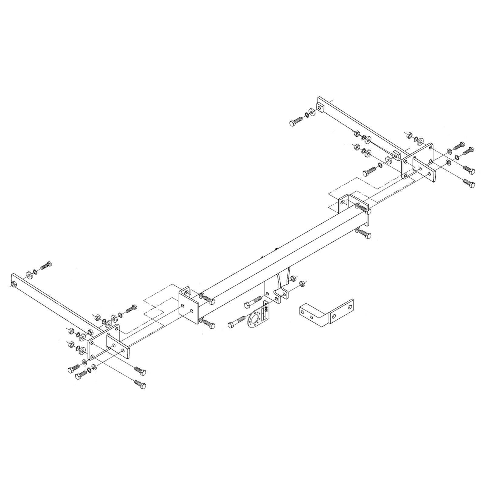 Detachable Vertical Towbar for MERCEDES C-CLASS 2007-2014 S204 Estate T-model